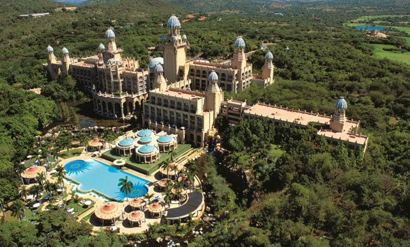 Aerial view of the Sun City hotels