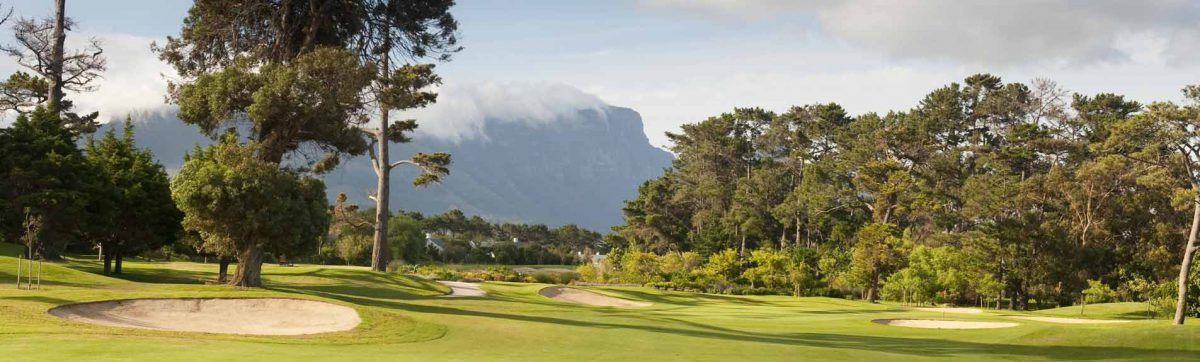 Shadows on the fairway at Clovelly Golf Club, Cape Town.