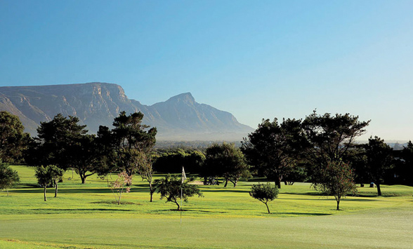 View of Table Mountain from Westlake Golf Club Fairway.