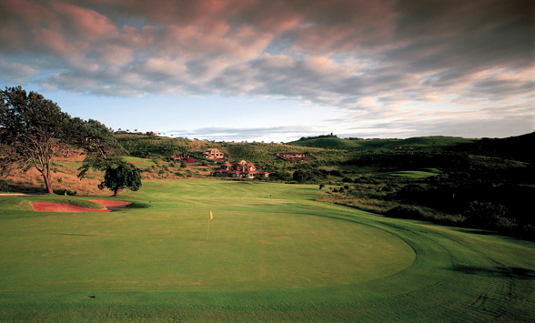 Stormy clouds over Zimbali Golf Course in Durban.