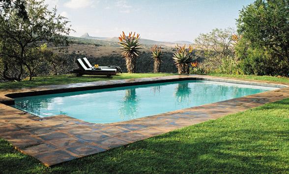 Views from the pool at Fugitive's Drift towards Isandlwana.