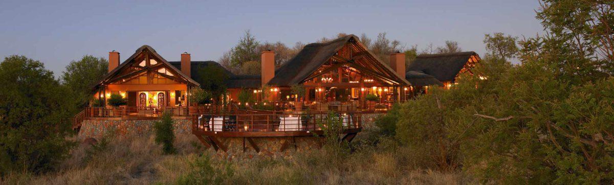 Game viewing from the deck of the Mateya Safari Lodge in Madikwe.