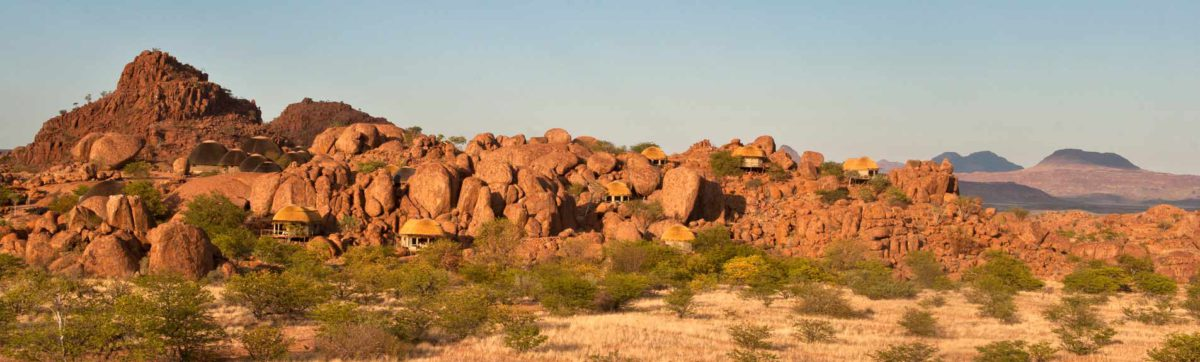 Boulder shaped suites hidden amongst the rocks at Mowani Mountain Camp.