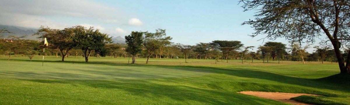 Tranquil setting and long shadows over the golf course at Great Rift Valley.