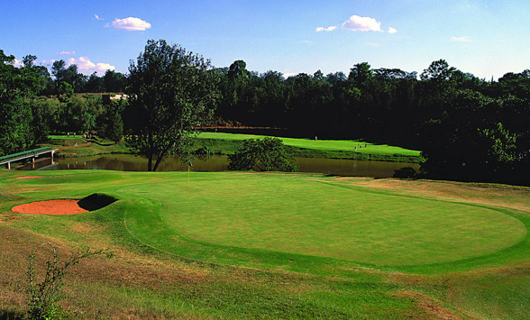 fairways and greens on the Royal Nairobi Golf Club course.