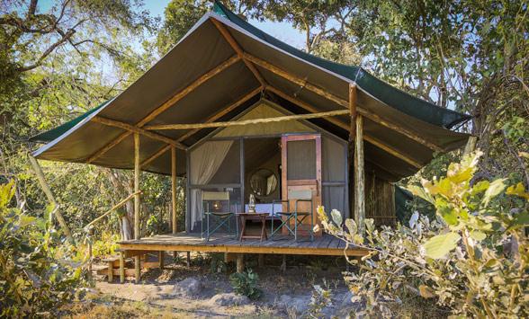 exterior of a standard tented safari room